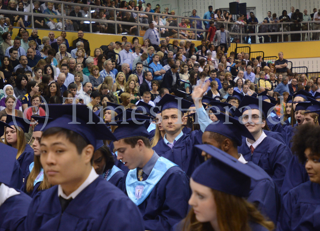 Description of . Wissahickon High School celebrates their 2014 Graduation.  Thursday, June 12, 2014.  Photo by Adrianna Hoff/Times Herald Staff.