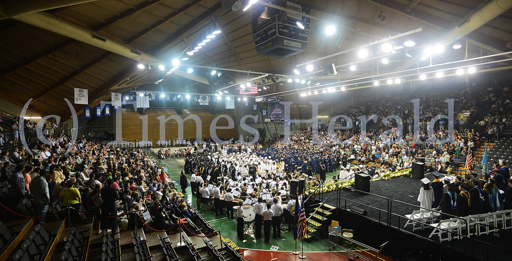 Description of . Upper Merion High School 2014 Graduation held at the Pavilion at Villanova.  Tuesday, June 10, 2014.  Photo by Adrianna Hoff/Times Herald Staff.