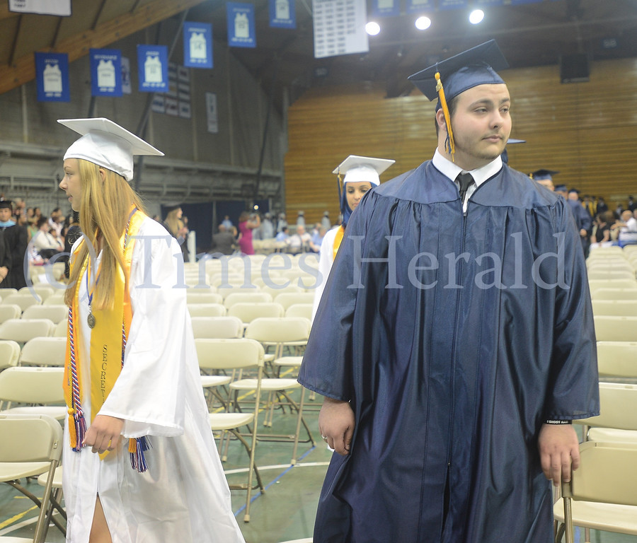 Description of . Upper Merion High School's 2014 Graduation was held at the Pavilion at Villanova University.  Tuesday, June 10, 2014.  Photo by Adrianna Hoff/Times Herald Staff.