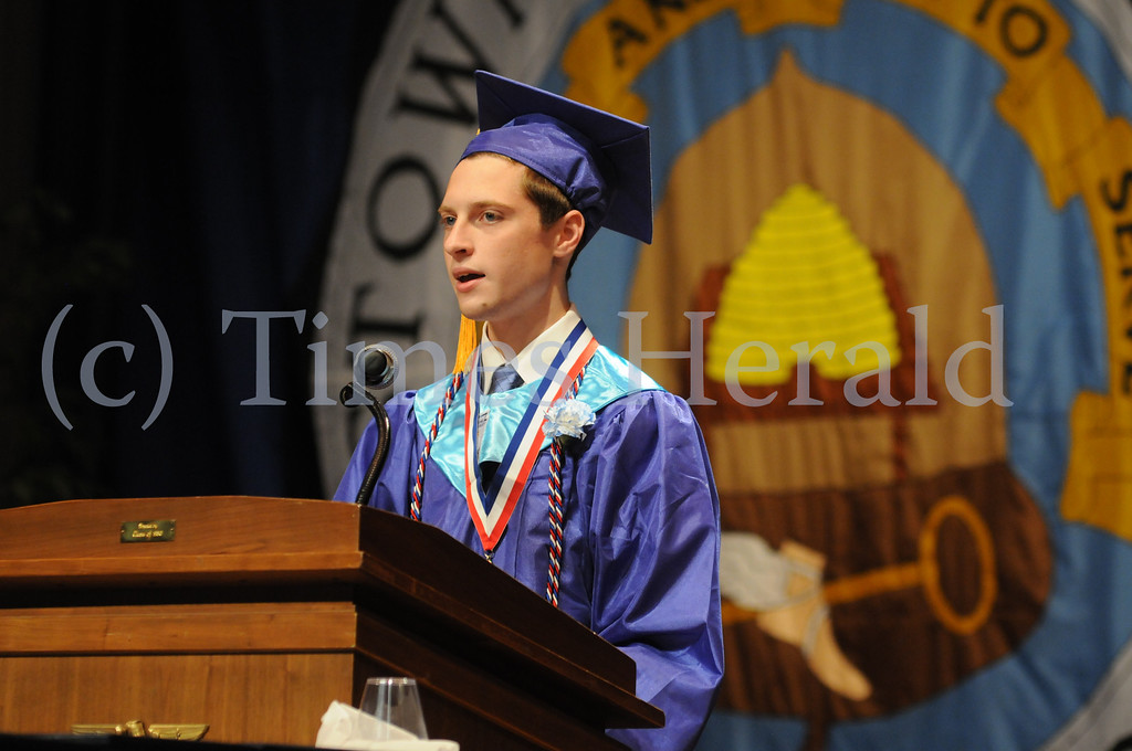 Description of . Norristown Area High School seniors at their commencement ceremony in West Norristown June 6, 2014. Photo by Gene Walsh / Times Herald Staff