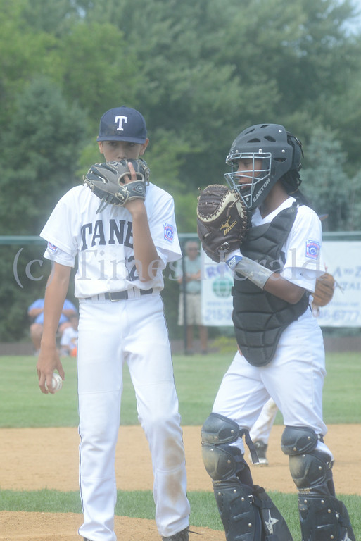 Description of . Collier defeats Taney, 7-2 on Saturday afternoon.  Saturday, July 26, 2014.  Photo by Adrianna Hoff/Times Herald Staff.
