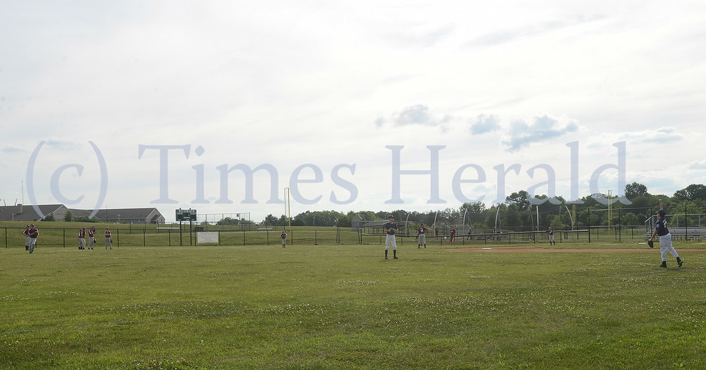 Description of . Lower Perkiomen Little League readies their fields and their volunteers for the upcoming State Championship.  Wednesday, July 16, 2014.  Photo by Adrianna Hoff/Times Herald Staff.