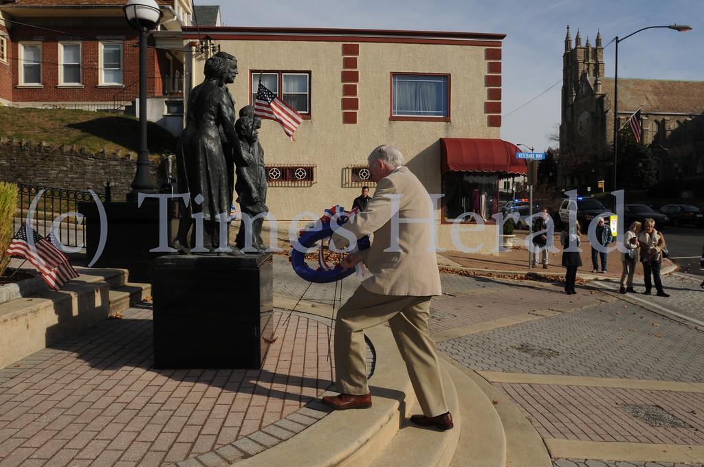 . VFW Post 1074 observes Veterans Day with program in Conshohocken November 11, 2013. Photo by Gene Walsh / Times Herald Staff