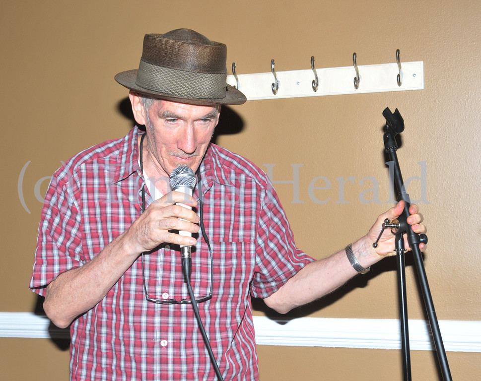 """. Kevin O\'Neal performs at the \""""Open Words\"""" event at Jus\' Java in Norristown.  Wednesday, September 4, 2013.  Photo by Adrianna Hoff/Times Herald Staff."""