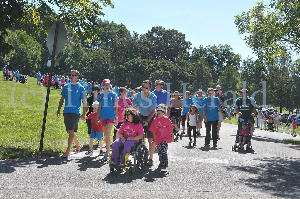 . The 3rd annual Philadelphia One SMALL Step for Prader-Willi Syndrome Walk gets start at the Norristown Farm Park.  Saturday, September 7, 2013.  Photo by Adrianna Hoff/Times Herald Staff.