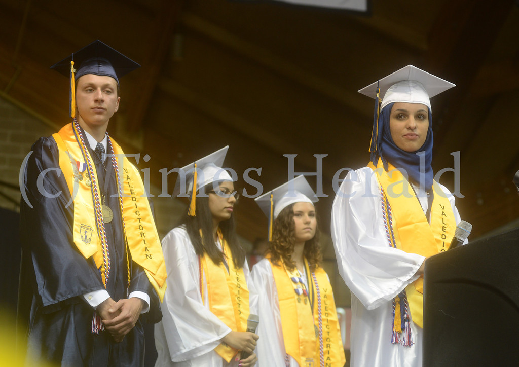 . Upper Merion High School\'s 2014 Graduation was held at the Pavilion at Villanova University.  Tuesday, June 10, 2014.  Photo by Adrianna Hoff/Times Herald Staff.