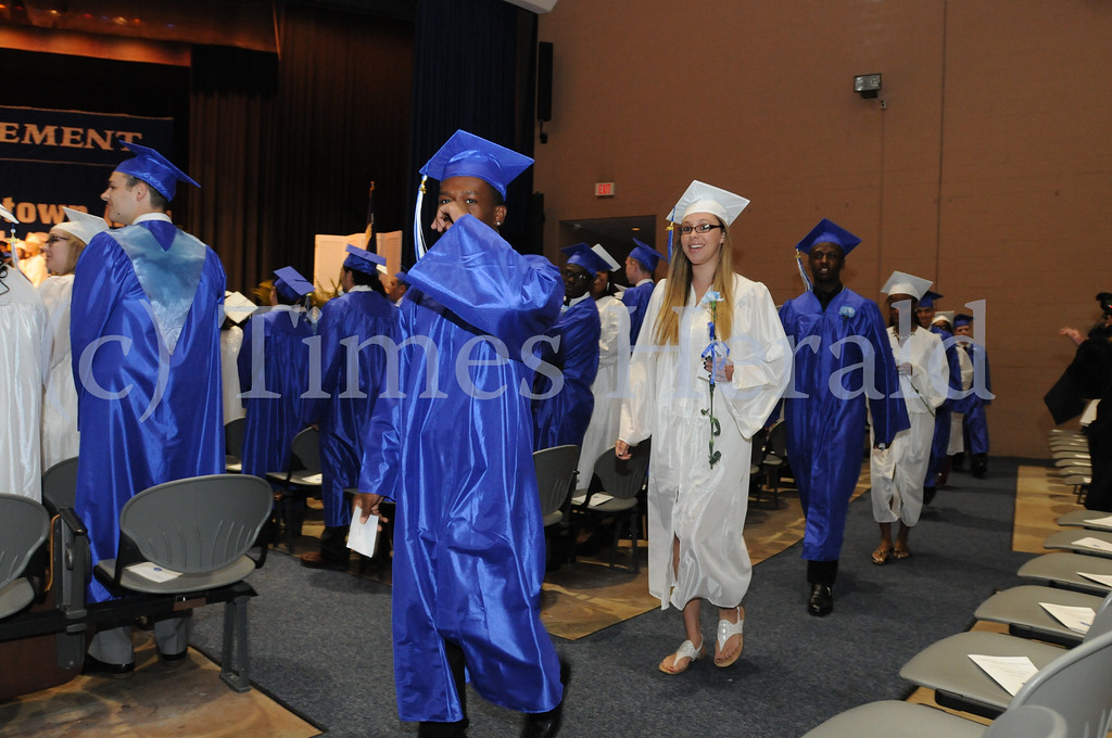 . Norristown Area High School seniors at their commencement ceremony in West Norristown June 6, 2014. Photo by Gene Walsh / Times Herald Staff
