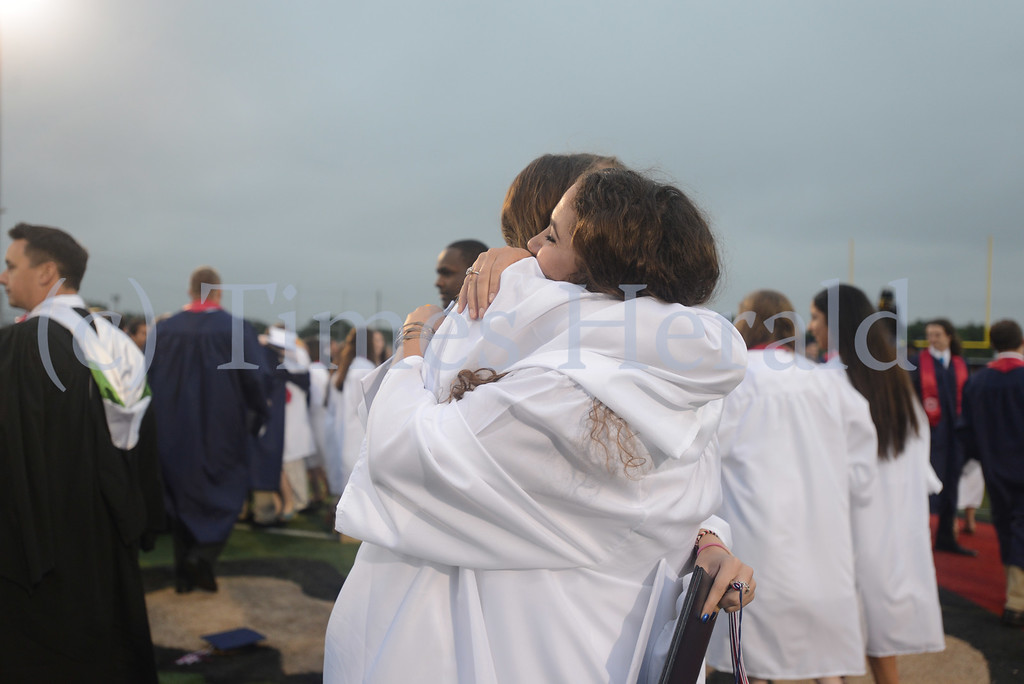 . Plymouth Whitemarsh High School celebrates their 2014 Commencement at Colonial Field.  Whitemarsh, June 11, 2014.  Photo by Adrianna Hoff/Times Herald Staff.